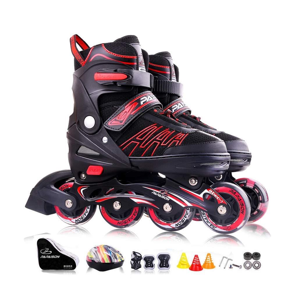 Gcxhlx Beginner Men Gift Illuminating Wheels Outdoor Inline Roller Skates,Adjustable Adult Fun Flashing Women Performance Indoor Inline Skates,Recreational Rollerblades for Ladies Male Youth Teen