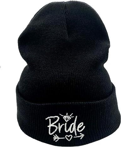 Mama Bear Knitted Hat Winter Skull Beanies Kids Cuffed Plain Cap