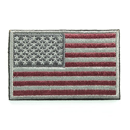 Yahong Tactical USA Flag Patch - Subdued Silver USA