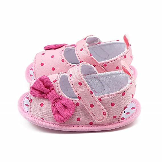 Zapatos Bebé prewalker verano Xinantime Sandalias bebé Niña Bebé Zapatos Princesa Bowknot - Zapatos de vestir (6-9 meses, Rosa): Amazon.es: Relojes
