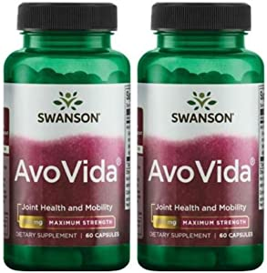 Swanson Ultra Maximum Strength AvoVida 300 mg -- 2 Bottles each of 60 Capsules