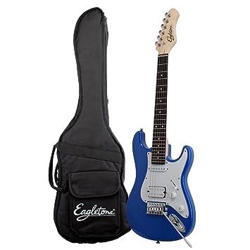 Tipo eagletone Sun Estado Mini Stratocaster guitarra eléctrica 3/4 para el niño azul: Amazon.es: Instrumentos musicales