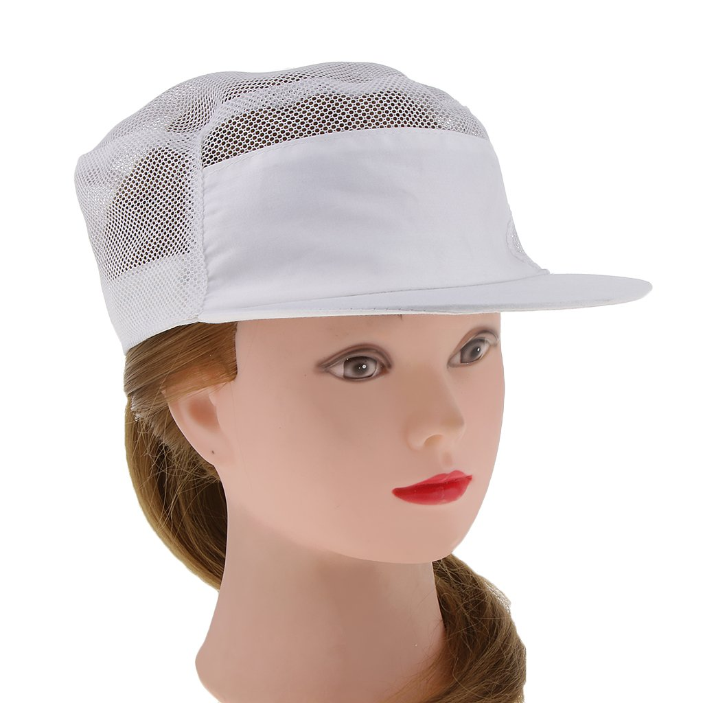 IPOTCH 2 Pezzi Cappello da Cuoco Mesh Traspirante Regolabile Cappellino da Chef Cap di Panettiere Copricapo