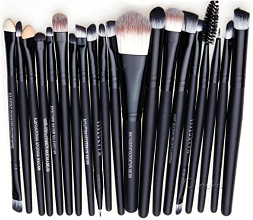Leisial Professional Laine Pencel - Set de 20 brochas de maquillaje, Kit de aseo, Set de brochas de maquillaje de marca, Noir A, talla única: Amazon.es: Hogar