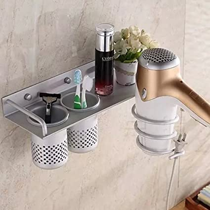 Etonnant Aluminum Wall Mounted Hair Dryer Holder Spiral Hair Care Tools Hanging Rack  Organizer For Blow Dryer