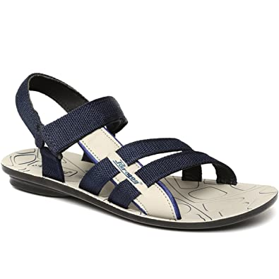 PARAGON SLICKERS Men s Blue Sandals  Buy Online at Low Prices in ... db6daee89014