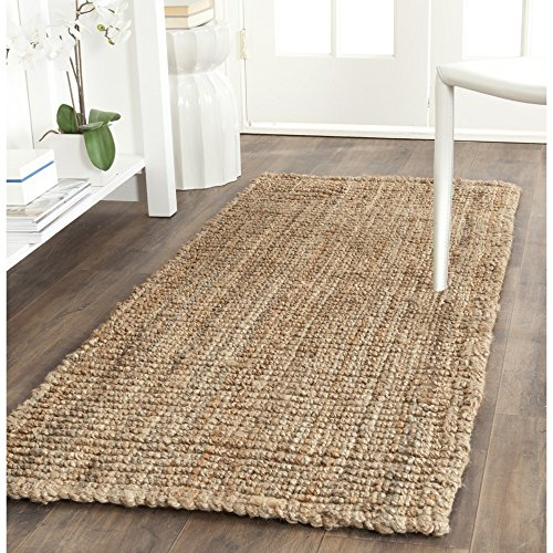 Safavieh Natural Fiber Collection NF447A Hand Woven Natural Jute Runner (2' x 6') by Safavieh