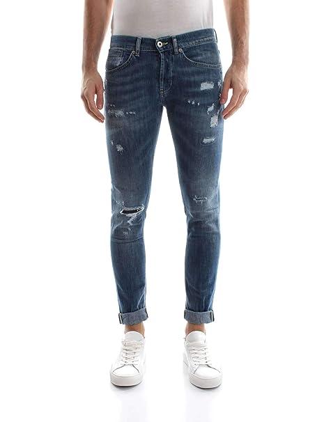85a41da0b1 DONDUP George UP232 Jeans Uomo Denim Medium Blue 38: Amazon.it ...