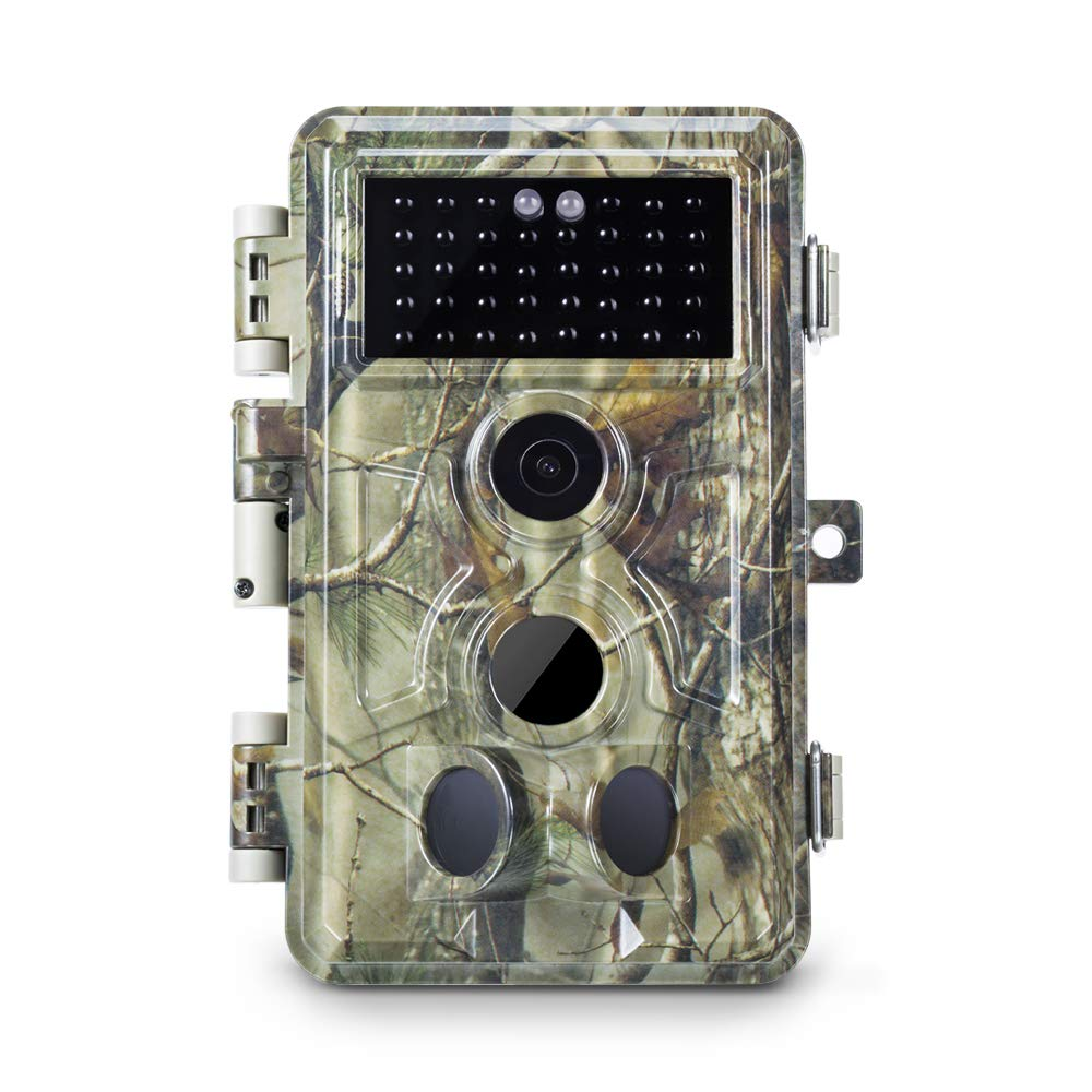 Meidase Trail Camera 16MP 1080P, Game Camera with No Glow Night Vision Up to 65ft, 0.2s Trigger Time Motion Activated, 2.4'' Color Screen Waterproof Wildlife Hunting Camera by Meidase