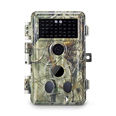 Meidase Trail Camera 16MP 1080P, Game Camera with No Glow Night Vision Up to 65ft, 0.2s Trigger Time Motion Activated, 2.4  Color Screen Waterproof Wildlife Hunting Camera