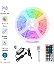 LED Strip Light Kit Waterproof 300 LEDs 5050 RGB 10m 32.8ft Strips Lighting Flexible Color Changing