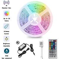 LED Strip Light Kit Waterproof 300 LEDs 5050 RGB 10m 32.8ft Strips Lighting Flexible Color Changing