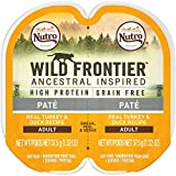 Nutro Wild Frontier High Protein Grain Free Pate Wet Cat Food, Turkey & Duck, 2.65 Oz. (24 Twin Packs)