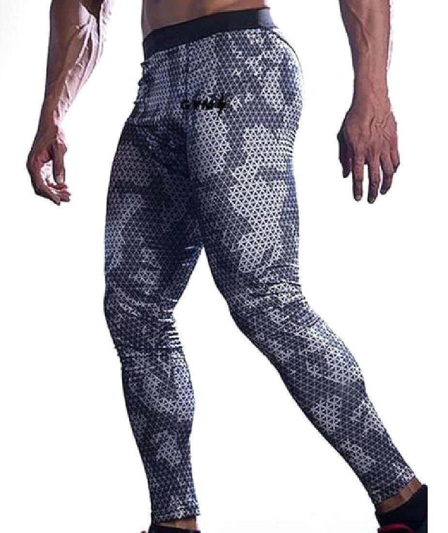 Zimaes-Men Baselayer Multicam Moisture-Wicking Footless Legging