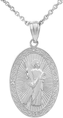 Thomas The Apostle Pendant DiamondJewelryNY Sterling Silver St