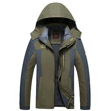 b16cb8cd679 Ddstar Men s Fall Jackets Big and Tall Light Waterproof Hooded Windproof  Raincoat Climbing Jackets Windbreaker Softshell
