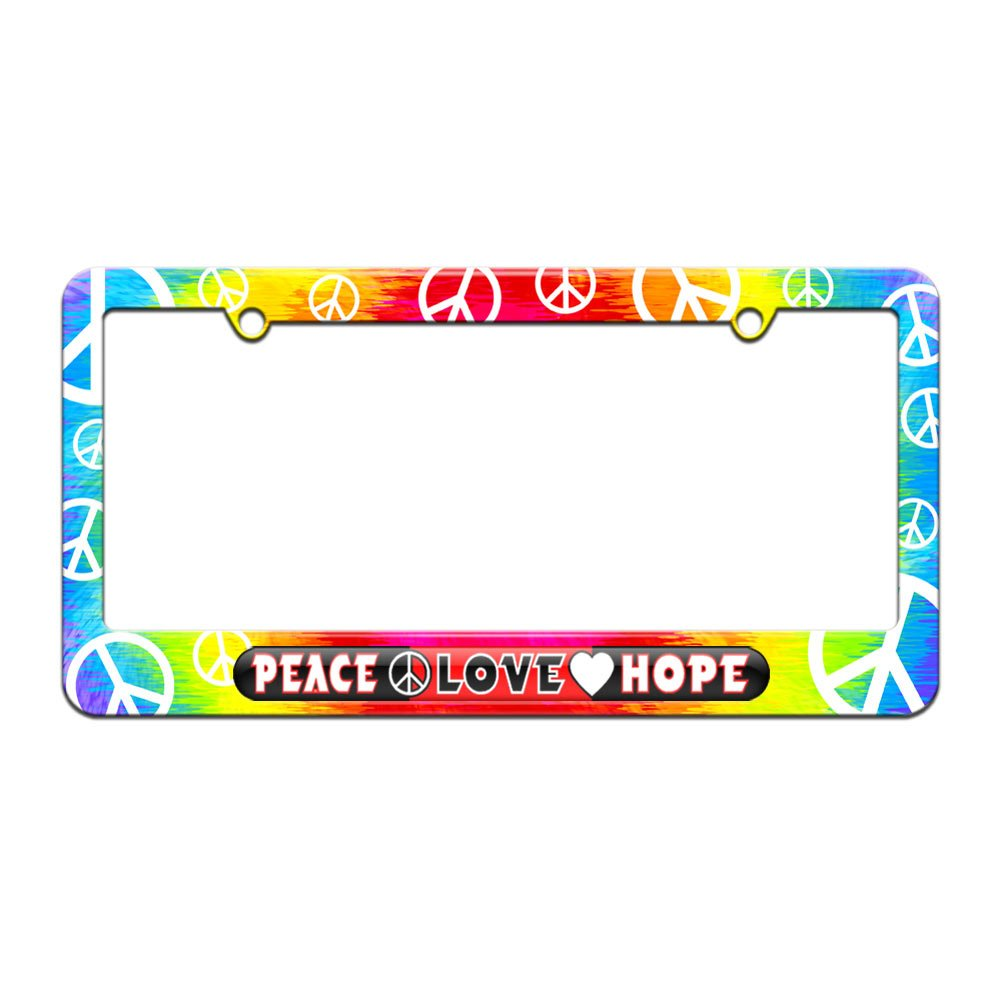 Amazon.com: Peace Love Hope Inspirational - License Plate Tag Frame ...