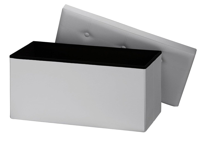 Orolay Caja de Almacenamiento Plegable con multifunciones de Ahorro de Espacio 76CM(Blanco)