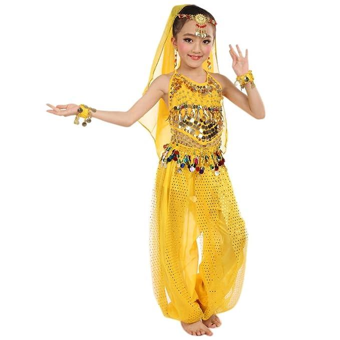Hunpta Handgemachte Kinder Mädchen Bauchtanz Kostüme Kinder Bauchtanz Ägypten Tanz Tuch