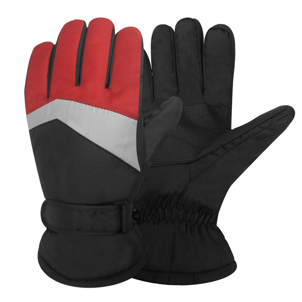 Igloos Mens Taslon Color Block Ski Gloves