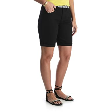 a0c4633c3b LEE Riders Women's Mid Rise Bermuda Shorts with 11
