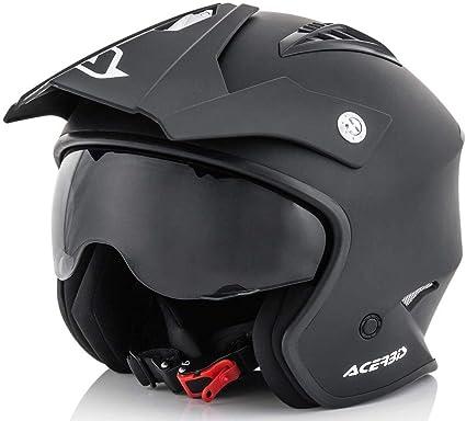 comprar Acerbis 0022569.091.064 Jet Aria Casco, color Negro, size M ( 57-58 cm)