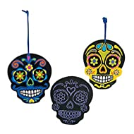 Day of the Dead Scratch 'N Reveal Ornaments (1 Dozen)