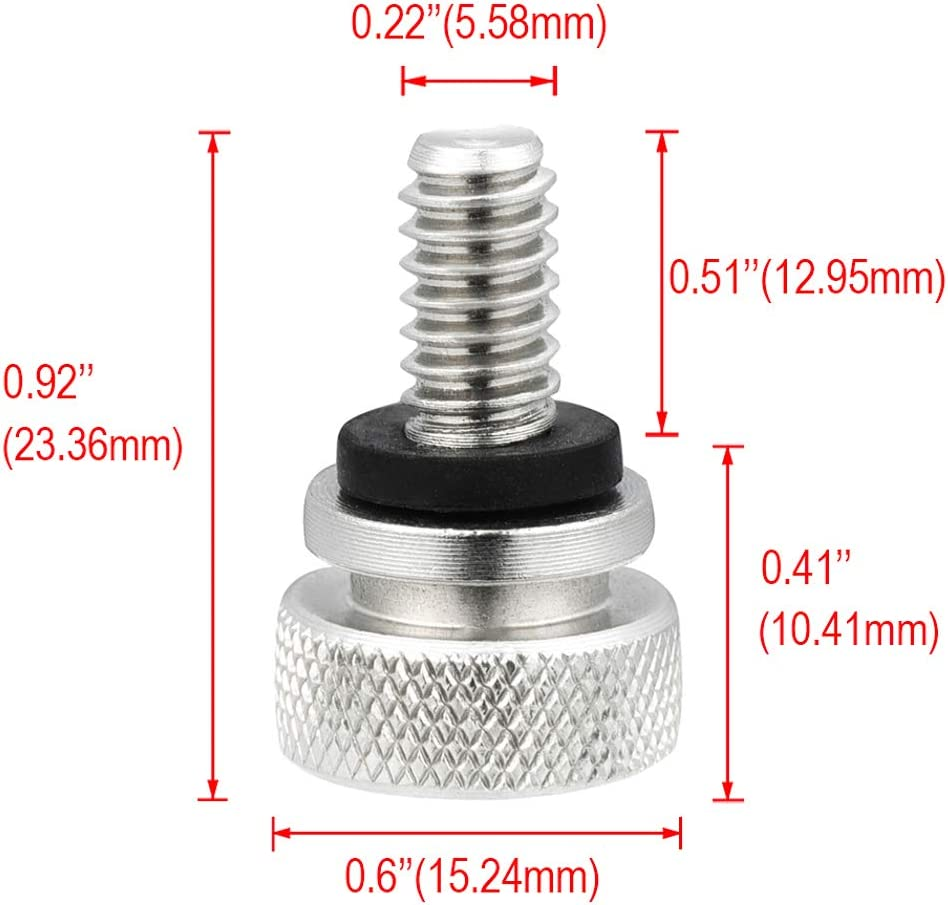 Benlari Stainless Steel Seat Bolt Screw Compatible for Harley Davidson Touring Dyna Sportster Softail Trike Electra Street Road Glide Road King 1996-2019