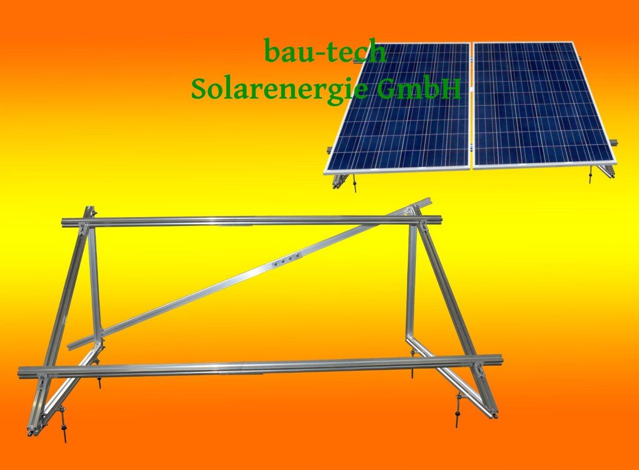 Solar Photovoltaik Aufständerung für 2 Stück 230Watt bis 300Watt Module von bau-tech Solarenergie GmbH