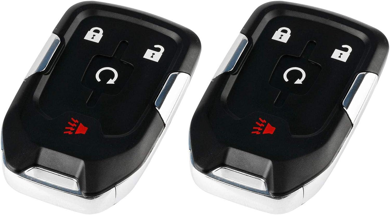 Set of 2 HYQ1AA, 13580802 Yukon XL Smart Key Fob Keyless Entry Remote fits 2015-2020 Chevy Suburban//Tahoe//GMC Yukon