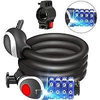 Awroutdoor Candado de Bicicleta Seguridad Candado de Cable