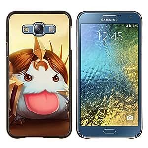 EJOOY---Cubierta de la caja de protección para la piel dura ** Samsung Galaxy E7 E700 ** --Blanco mullido
