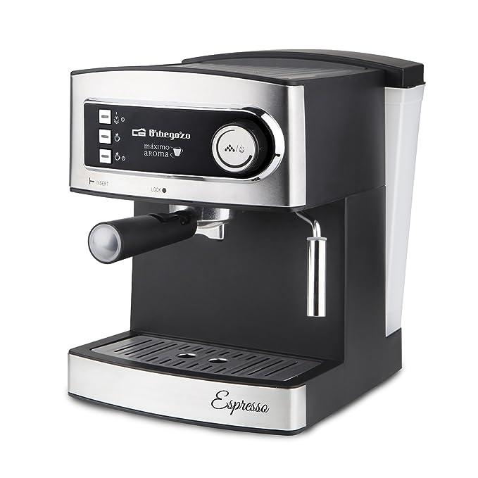 Orbegozo EX 3000 Cafetera para espresso y cappuccino, Acero Inoxidable