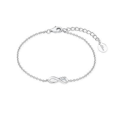 2264caf087f6 Oliver Damen-Armband So Pure 16+3 cm mit Infinity Unendlichkeitszeichen Anhänger  925 Silber rhodiniert Zirkonia weiß  Amazon.de  Schmuck