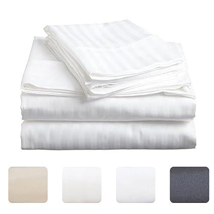 ZOGOLOMO Luxury Bed Sheet Set Clearance 3 Piece, 1 Flat Sheet,1 Fitted Sheet