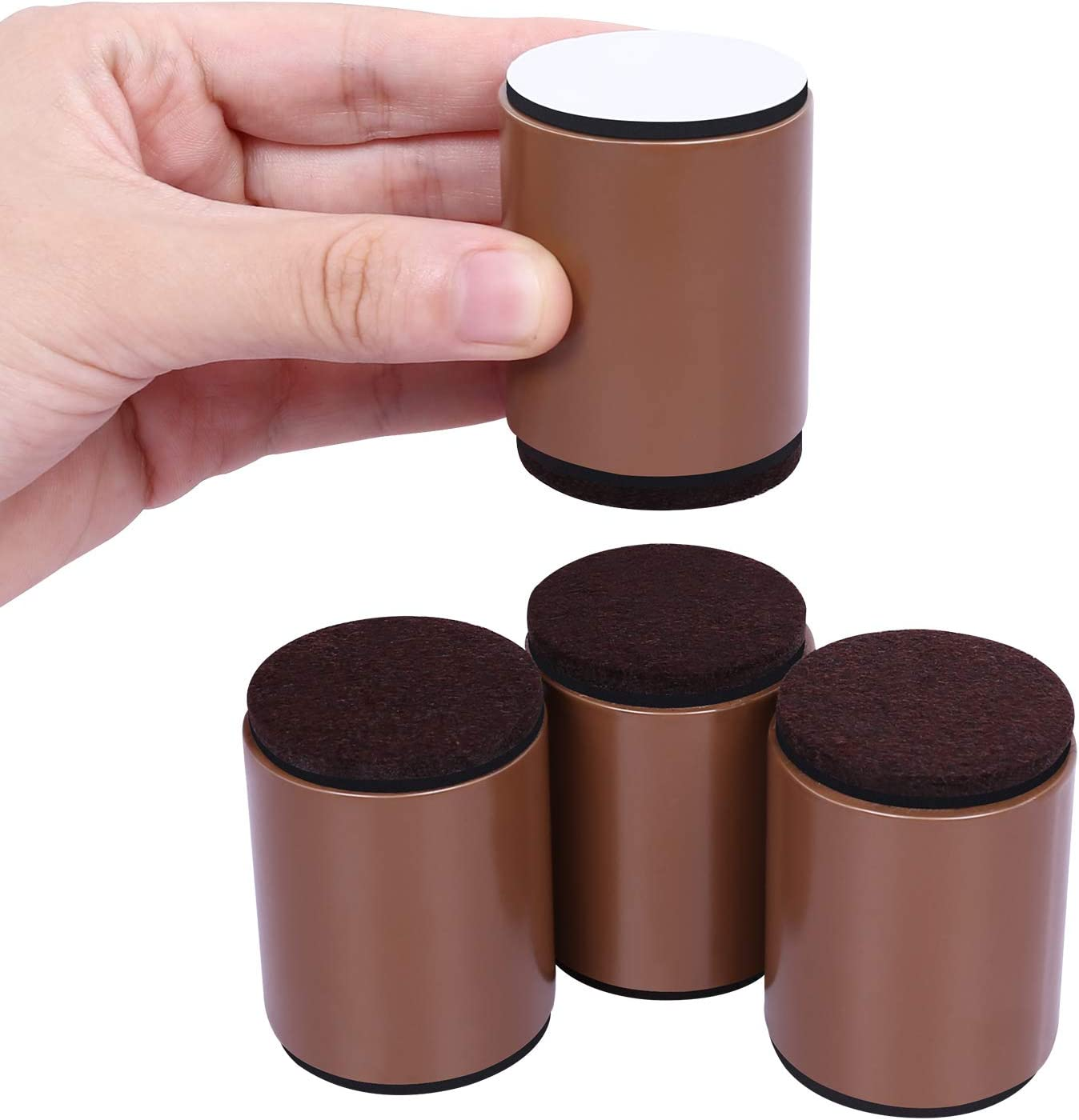 Diameter 4cm Self-Adhesive Heavy Duty Furniture Raisers Adds 5cm Height to Beds Sofas Cabinets Supports 20,000 lbs Round, Black AIRUJIA 5cm Lift Furniture Risers Carbon Steel Bed Risers