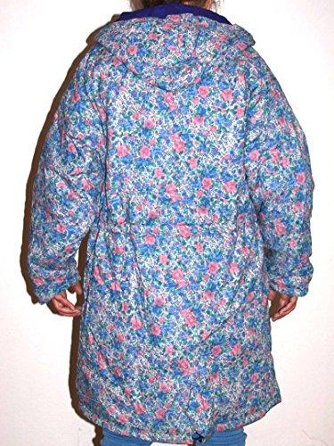 Wintermantel Nr. 20 mit Kapuze Blümchenmuster Größe L wendbar Baumwolle mit Polyester-Füllung Original 1990er Jahre
