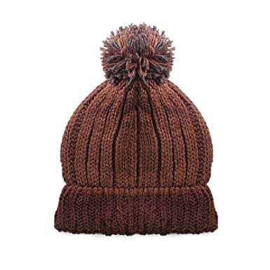 f7ca34269 Mens Chunky Knit Warm Beanie Hat with Contrast Bobble Available in a  selection of colours