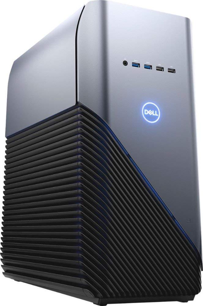 Dell Inspiron Gaming PC Desktop AMD Ryzen 7 2700 Processor, 16GB DRAM, 1TB HDD, AMD Radeon RX 580 4GB GDDR5 Graphics Card, Windows 10 64-bit, Blue LED, Model Number: i5676-A696Blu by Dell