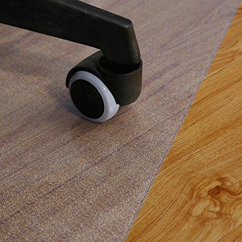 -[ YKS Chair Mat for Carpet Floors, Eco Office Chair PVC Mat for Hard Floor Protection, 117x152cm,