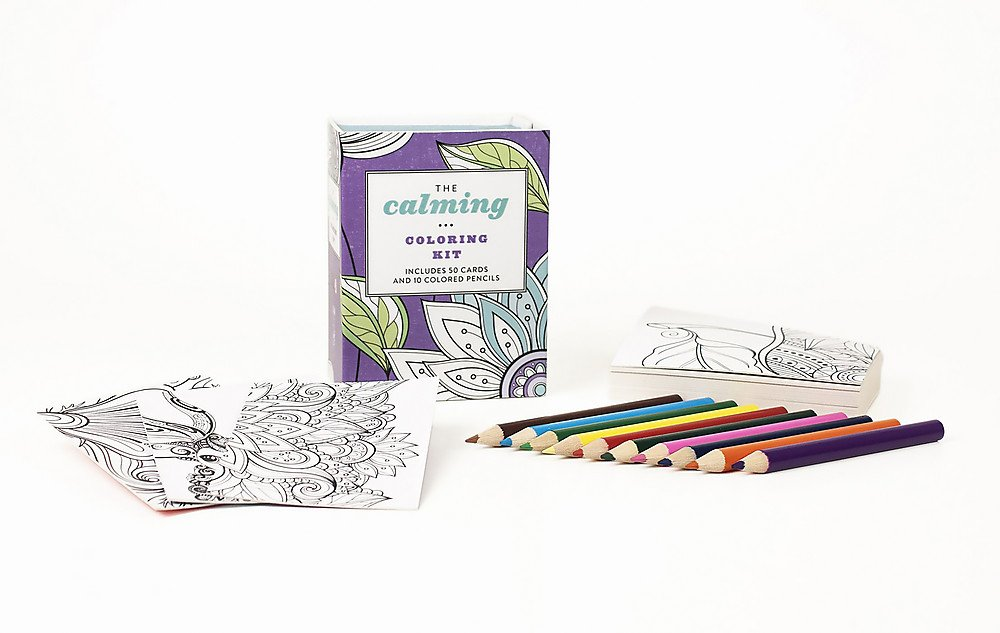 The Calming Coloring Kit Amazoncouk Running Press 9780762461356 Books