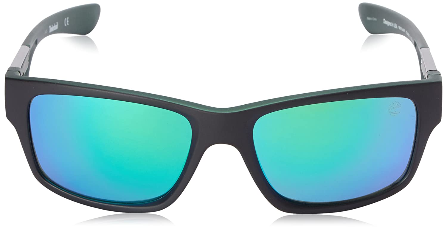 e8e27360adf Amazon.com: Timberland Men's Tb9078 Polarized Wrap, Green, 57 mm: Clothing
