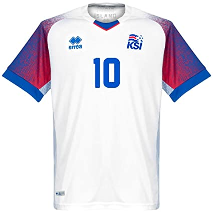 1eefad0e1 Amazon.com   Errea Iceland Away Sigurdsson 10 Jersey 2018 2019 ...