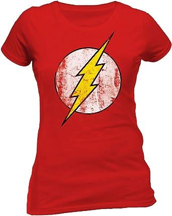 FLASH - DISTRESSED LOGO The Oficial T-Shirt de Damas Rojas 100 ...