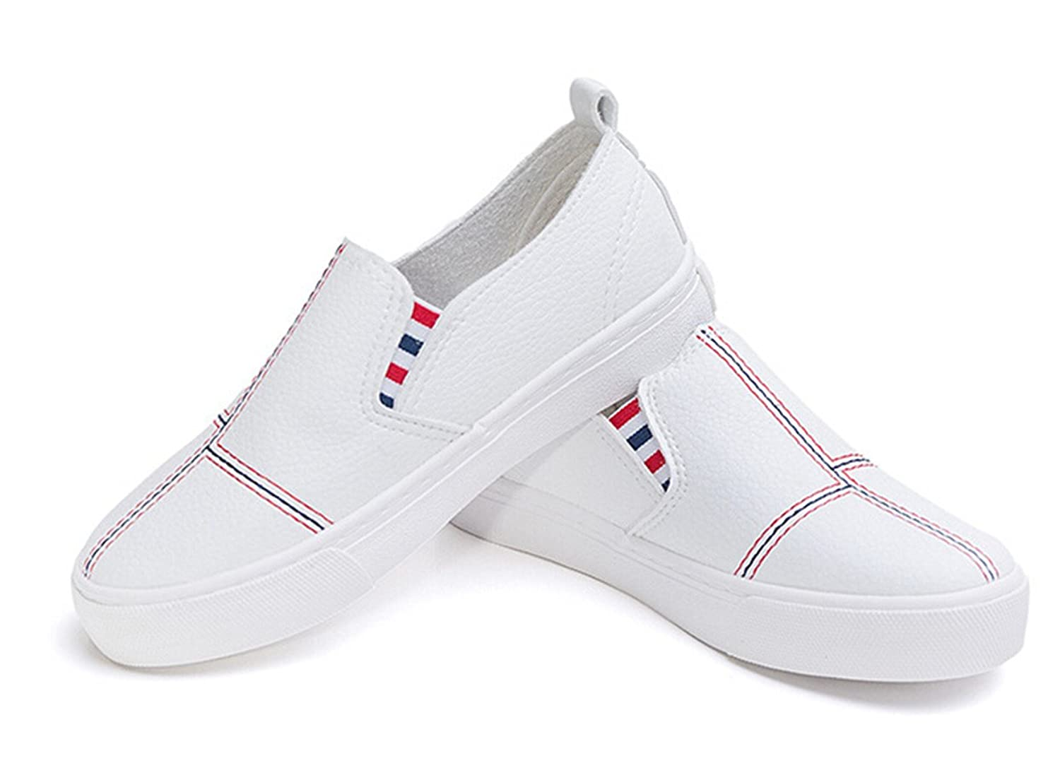 Bumud Little Kids Boys Girls Breathable Leather Loafer Slip-On Boat Dress  Shoes Sneakers (13 M US Little Kid, White): Amazon.ca: Shoes & Handbags