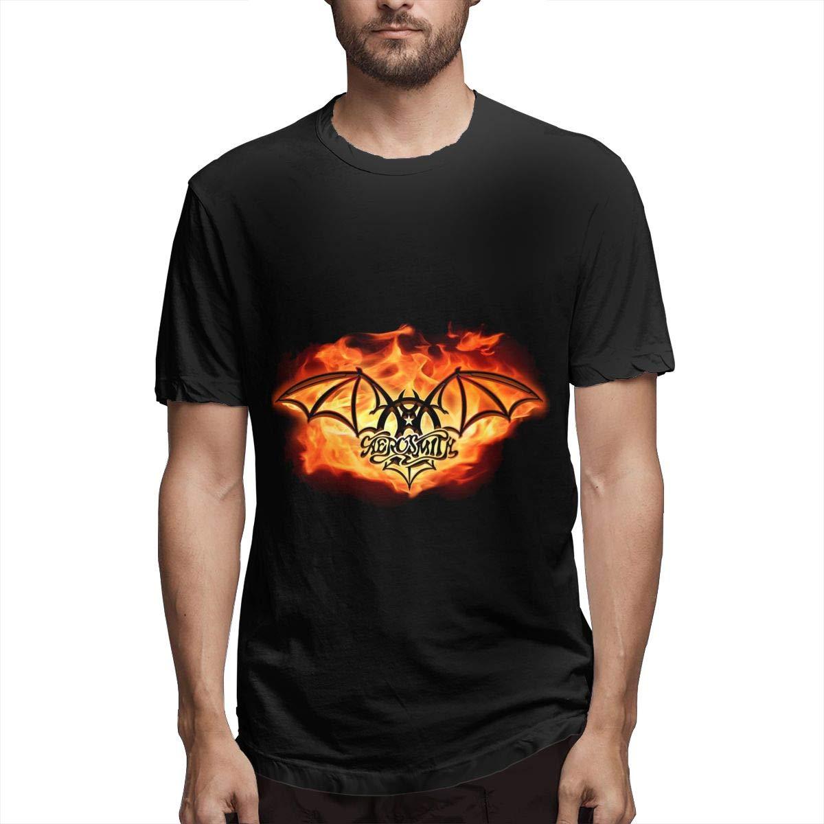 Lihehen S Aerosmith Retro Printing Round Neck Shirt