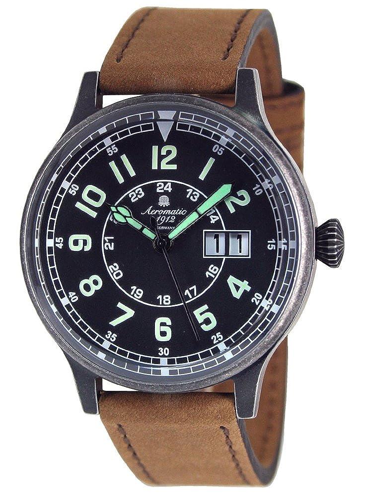 エアロマチック1912 腕時計 二戦 ドイツ 空軍 レトロ加工 復刻版 BIG-DATE A1254B [並行輸入品] B00SAQPDQ2