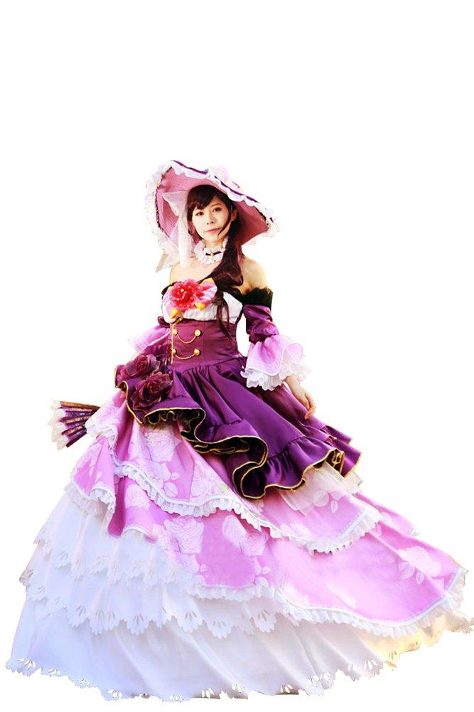Mtxc Women's Love Live! Cosplay Nozomi Tojo Ball Dress UR Card Ver. Size X-Large Purple