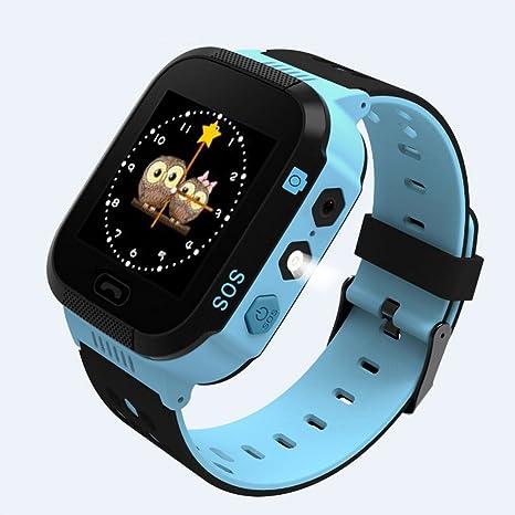 Teckey Childrens GPS reloj inteligente rastreador niños reloj de pulsera de fitness con cámara linterna pantalla