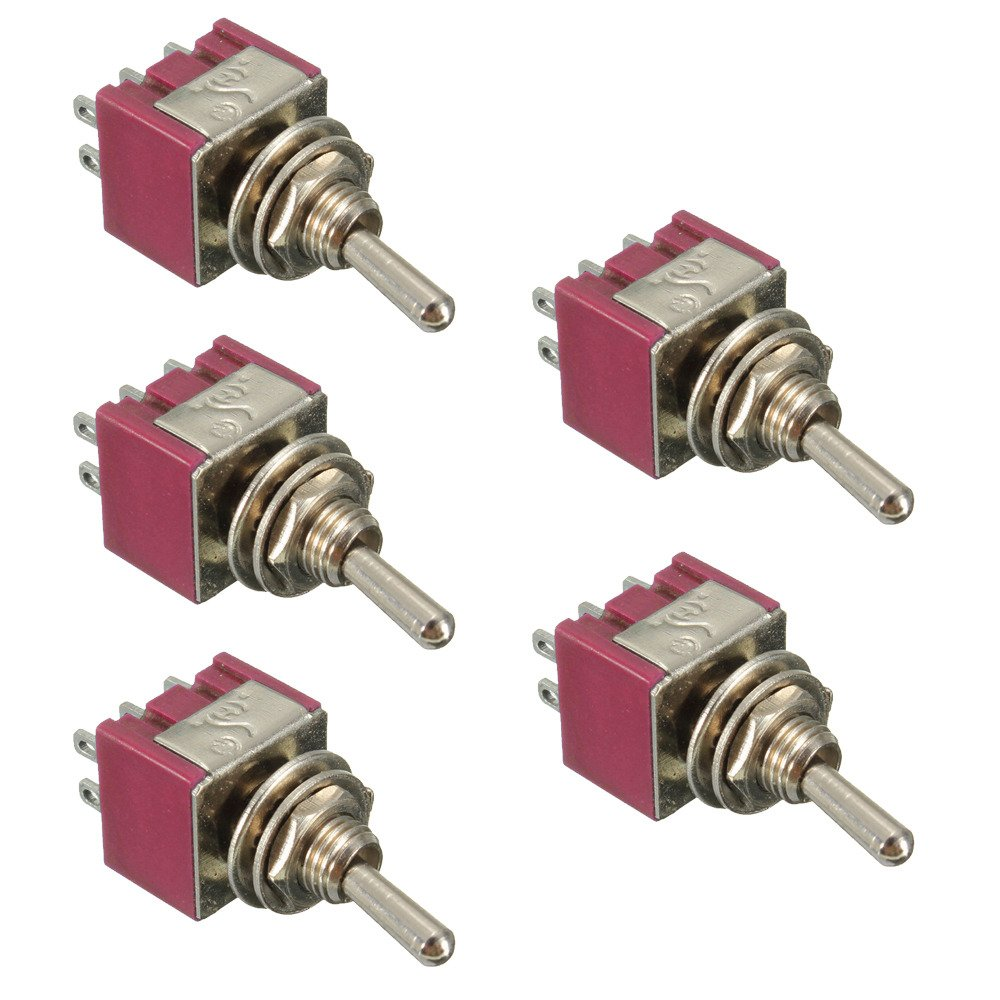 Etopars 10 X On//Off//On Momentary Mini Miniature Toggle Switch Dashboard DPDT 6Pin